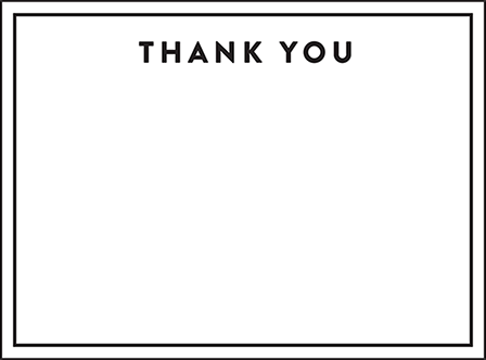 Duncan Letterpress Thank You Card Flat Design Medium