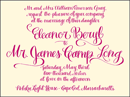 Eleanor Letterpress Invitation Design Medium