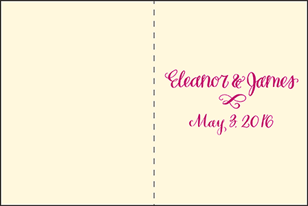 Eleanor Letterpress Program Design Medium