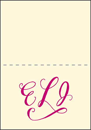 Eleanor Letterpress Thank You Card Fold Design Medium
