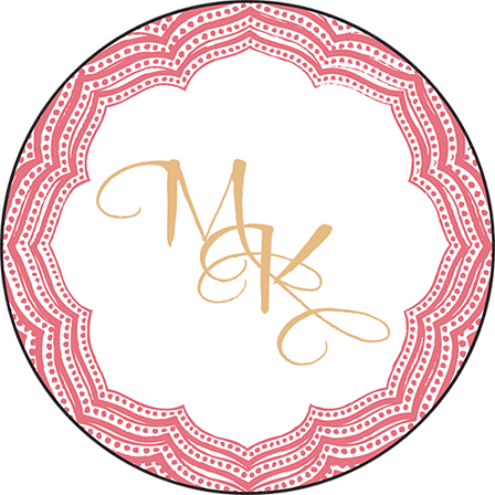 Elegant Monogram Letterpress Coaster Design Medium