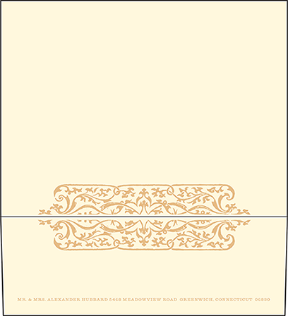 Elegant Monogram Letterpress Envelope Design Medium
