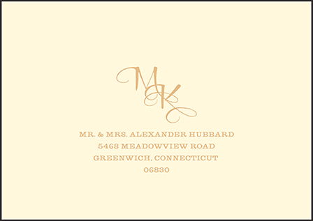 Elegant Monogram Letterpress Reply Envelope Design Medium