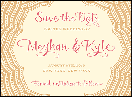 Elegant Monogram Letterpress Save The Date Design Medium