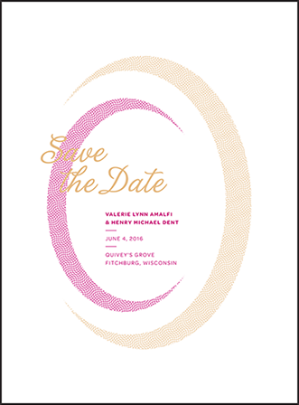 Ellisse Letterpress Save The Date Design Medium