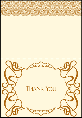Emile Letterpress Thank You Card Fold Design Medium
