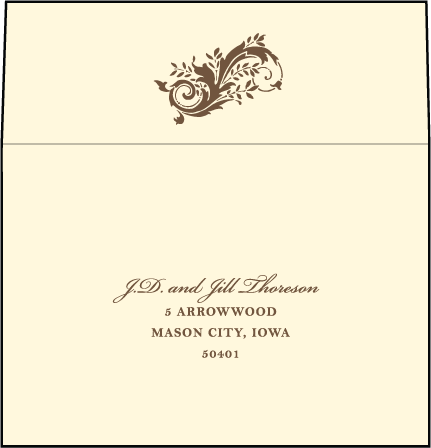 Empire Letterpress Reply Envelope Design Medium