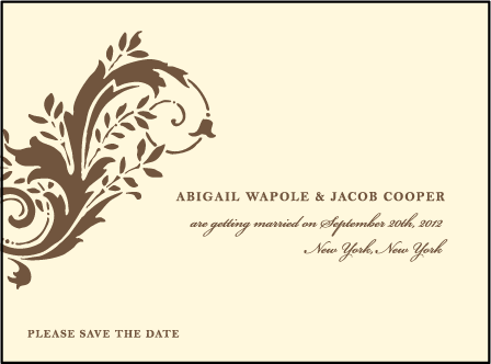 Empire Letterpress Save The Date Design Medium