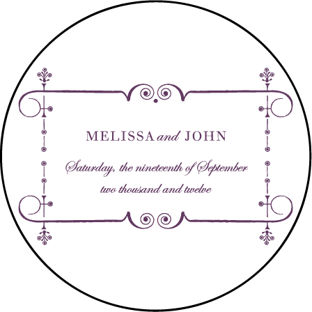 English Waltz Letterpress Coaster Design Medium