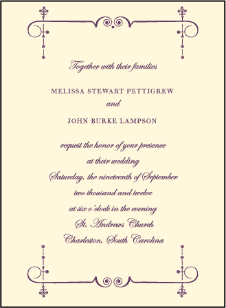 English Waltz Letterpress Invitation Design Medium