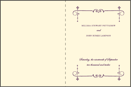 English Waltz Letterpress Program Design Medium