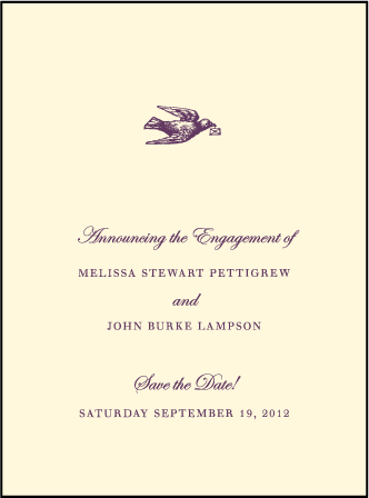 English Waltz Letterpress Save The Date Design Medium