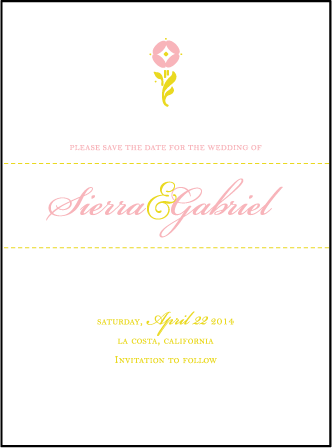 Erra Letterpress Save The Date Design Medium