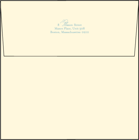 Erte Beach Letterpress Envelope Design Medium