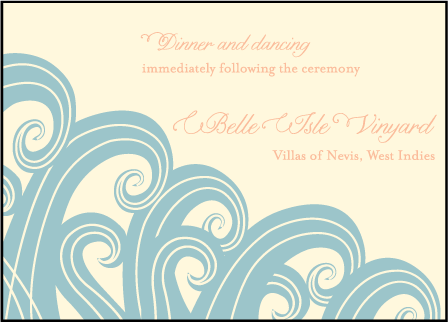 Erte Beach Letterpress Reception Design Medium