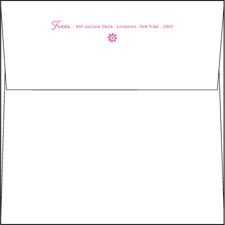 Esperanza Letterpress Envelope Design Medium