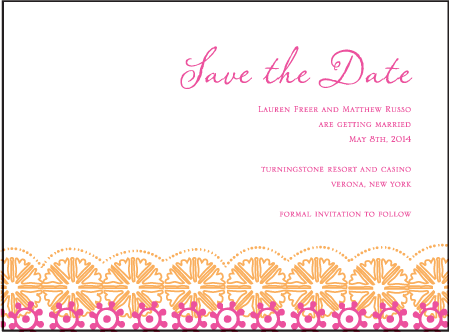 Esperanza Letterpress Save The Date Design Medium