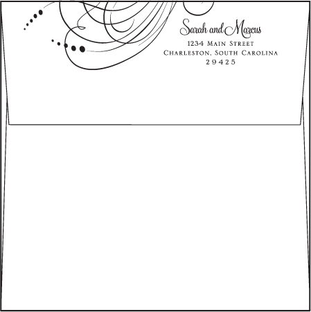 Evelyn Letterpress Envelope Design Medium