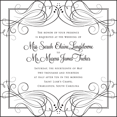 Evelyn Letterpress Invitation Design Medium