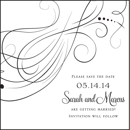 Evelyn Letterpress Save The Date Design Medium