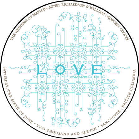 Exuberance Letterpress Coaster Design Medium