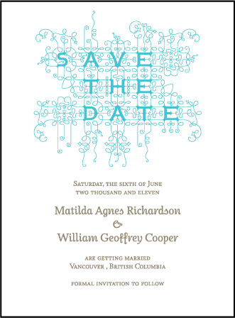 Exuberance Letterpress Save The Date Design Medium