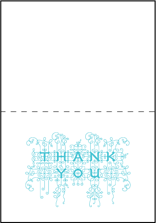 Exuberance Letterpress Thank You Card Fold Design Medium