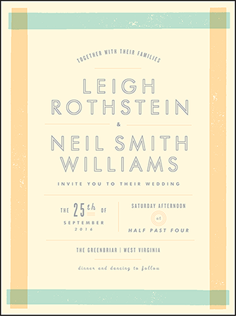 Farmstand Letterpress Invitation Design Medium