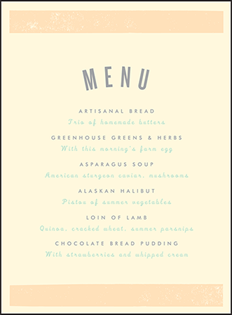 Farmstand Letterpress Menu Design Medium