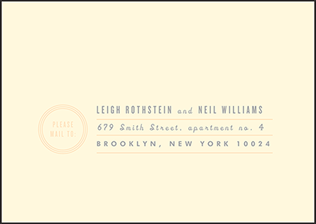 Farmstand Letterpress Reply Envelope Design Medium