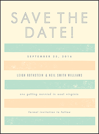 Farmstand Letterpress Save The Date Design Medium