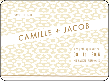 Fidelia Letterpress Save The Date Design Medium