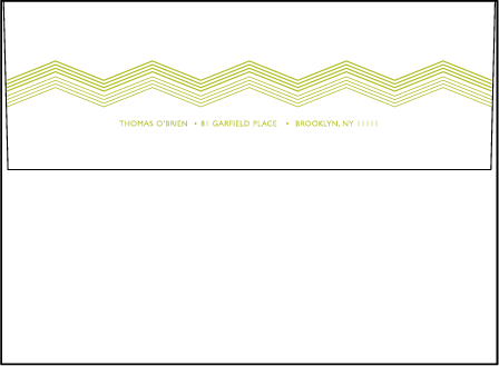 Fields Letterpress Envelope Design Medium