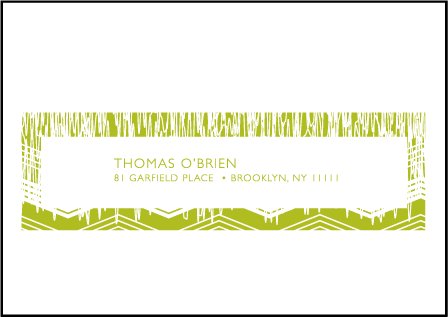 Fields Letterpress Reply Envelope Design Medium