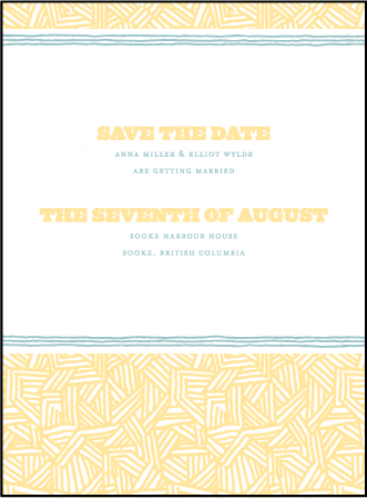 Fieno Letterpress Save The Date Design Medium