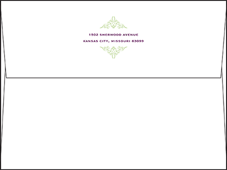 Filigree Letterpress Envelope Design Medium