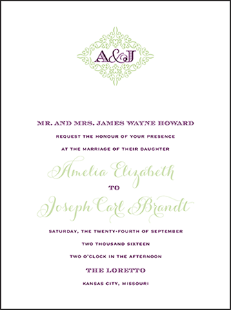Filigree Letterpress Invitation Design Medium