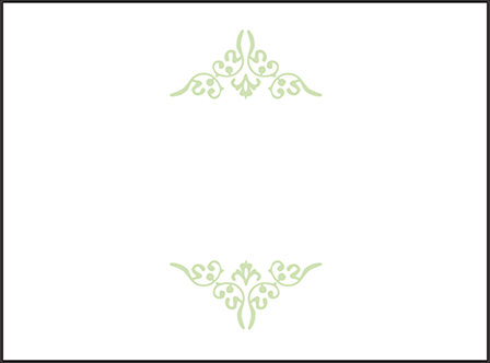 Filigree Letterpress Placecard Flat Design Medium