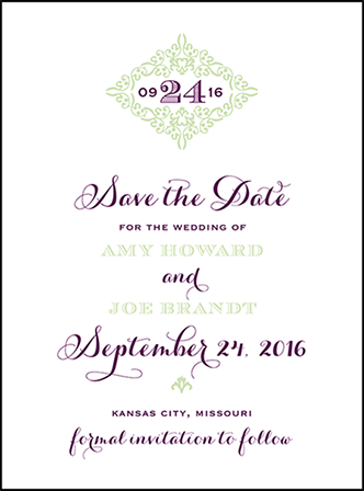 Filigree Letterpress Save The Date Design Medium