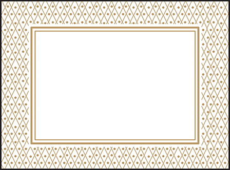 Fitzgerald Letterpress Placecard Flat Design Medium