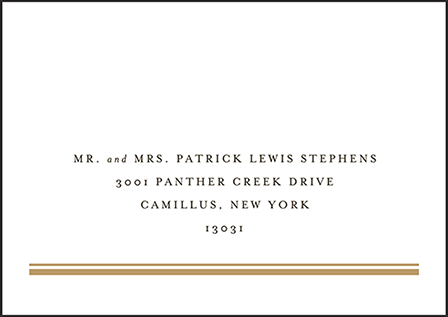 Fitzgerald Letterpress Reply Envelope Design Medium
