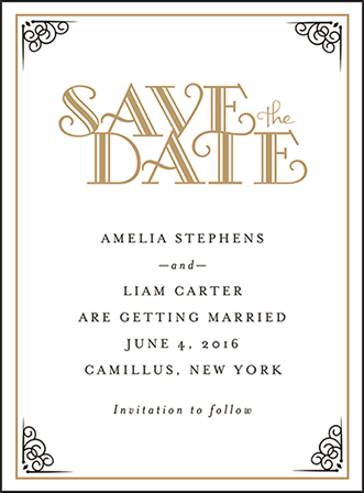 Fitzgerald Letterpress Save The Date Design Medium