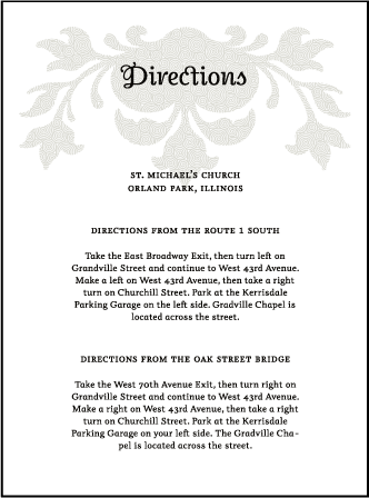 Fleur De Lys Letterpress Direction Design Medium