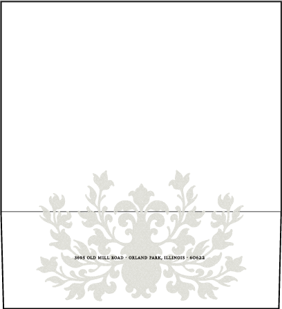 Fleur De Lys Letterpress Envelope Design Medium