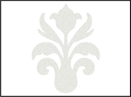 Fleur De Lys Letterpress Placecard Flat Design Medium