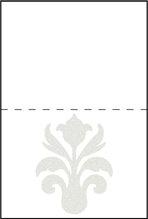 Fleur De Lys Letterpress Placecard Fold Design Medium
