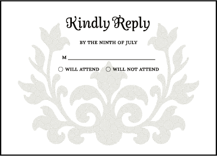 Fleur De Lys Letterpress Reply Design Medium