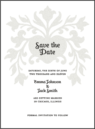 Fleur De Lys Letterpress Save The Date Design Medium