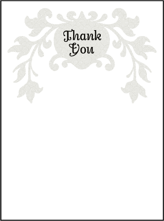 Fleur De Lys Letterpress Thank You Card Flat Design Medium