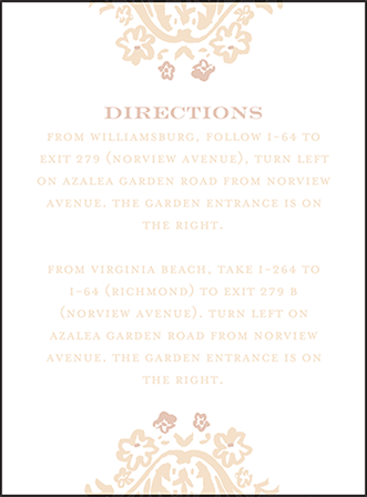 Fleur Letterpress Direction Design Medium